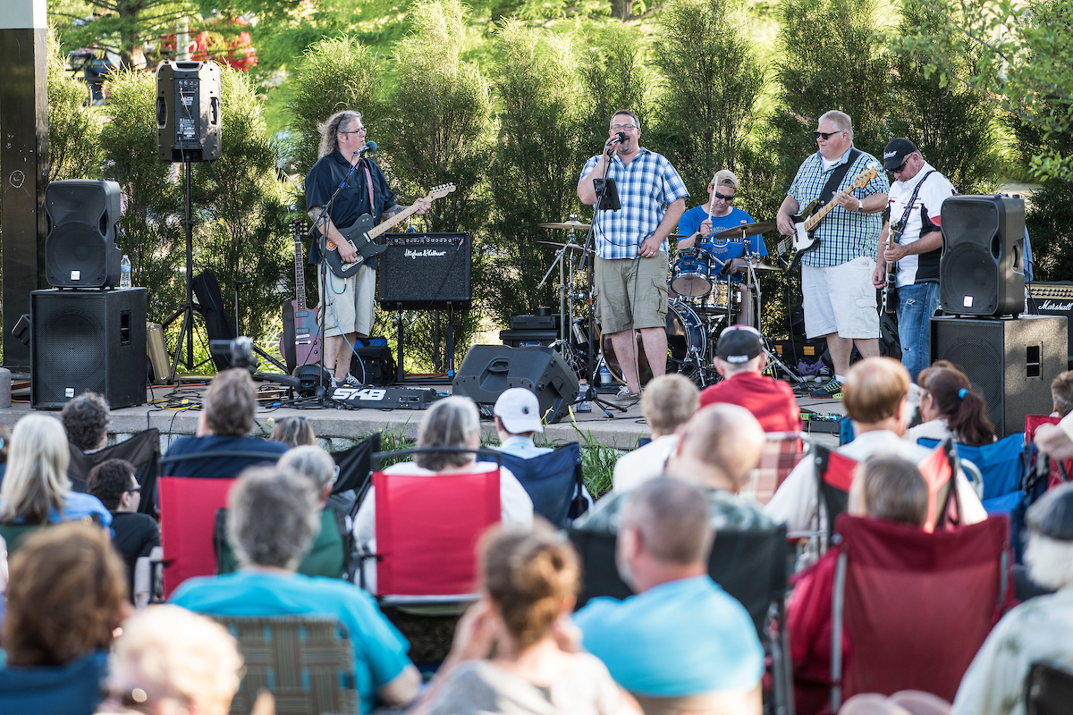 July 14, 2016; Hey Annie performs in Beutter Park, Mishawaka, IN (Photo by Matt Cashore)